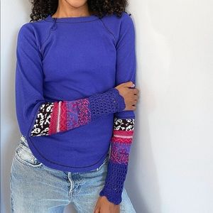 NEW Free People In The Mix Cuff Thermal Top
